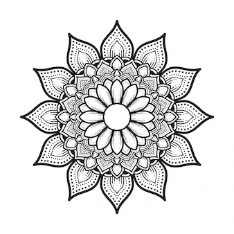 黒と白のマンダラの花