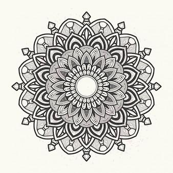 Элегантная цветочная мандала