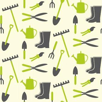 園芸工具のシームレスパターン