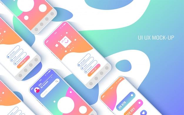 Концептуальные мобильные телефоны для пользовательского интерфейса,