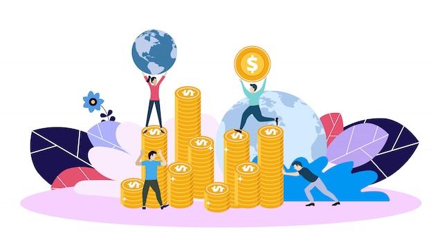 ビジネスと財務、銀行のコンセプト