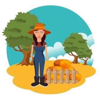 農業と干し草の俵