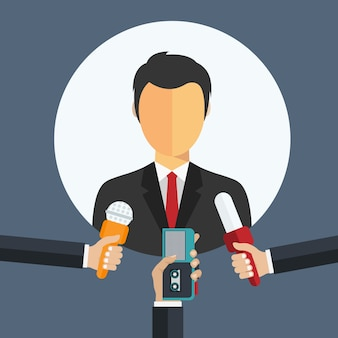Предприниматель дает интервью