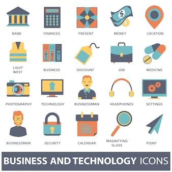 Набор векторных иконок для мобильных концепций и веб-приложений