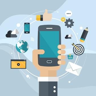 アプリケーション開発またはスマートフォンアプリのプログラミング