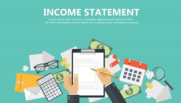Баннер отчета о доходах