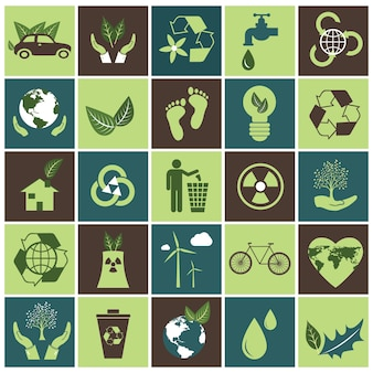 エコロジーのアイコンセット