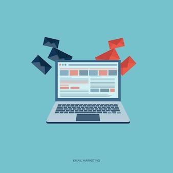Электронная почта концепции маркетинга