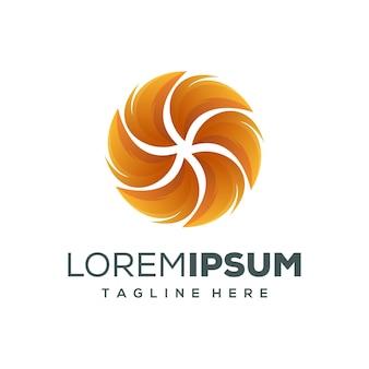 Круг огненный дизайн логотипа