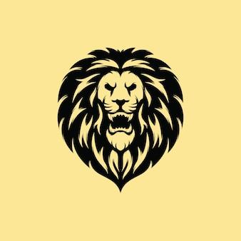 Премиум дизайн логотипа льва