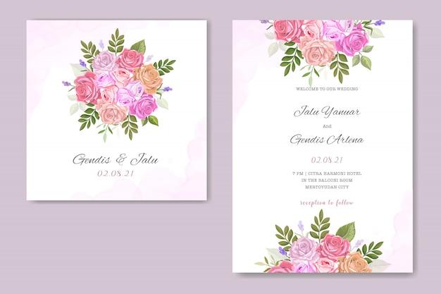 花柄の結婚式の招待状