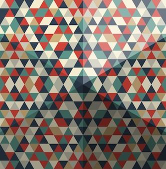 Причудливый рисунок треугольных многоугольников