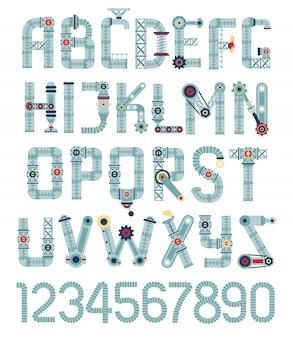 Стимпанк шрифт