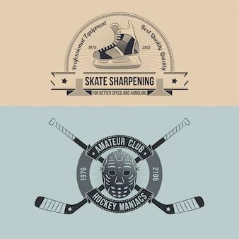 Хоккейный клуб ретро эмблема