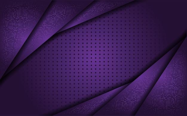 ラインゴールドと豪華な紫色の背景