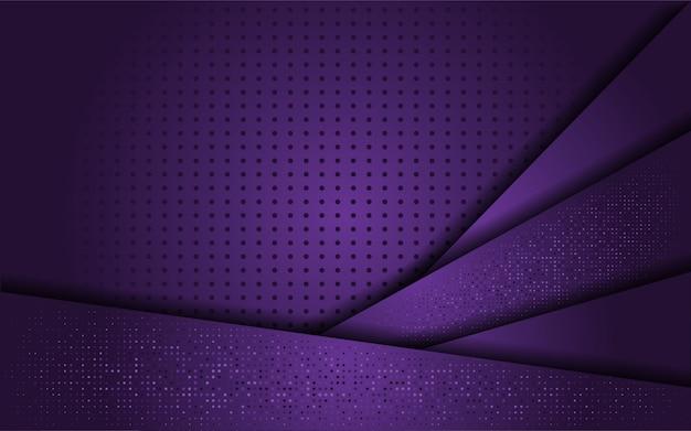 ゴールドラインと豪華な紫色の背景