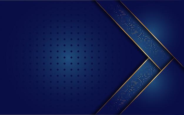 Роскошный темно-синий фон с сочетанием золотой линии