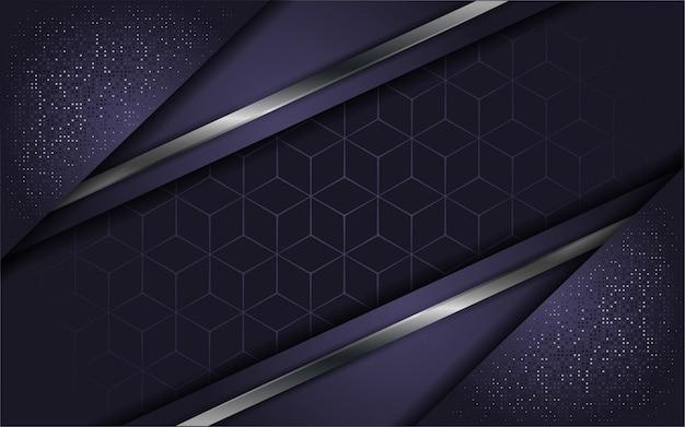 オーバーラップレイヤーと抽象的な高級紫