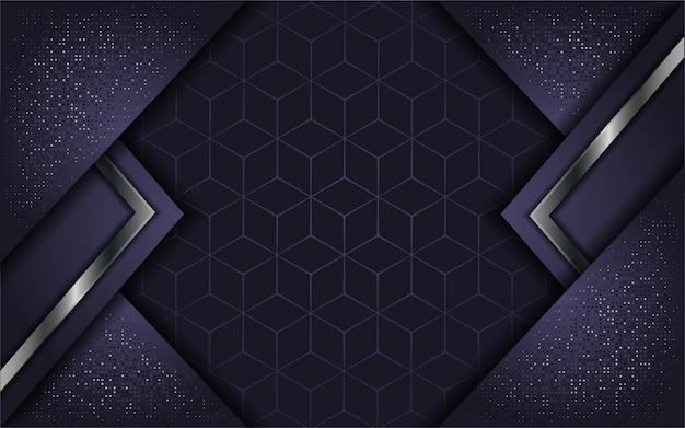 Абстрактная роскошная фиолетовая с накладным слоем