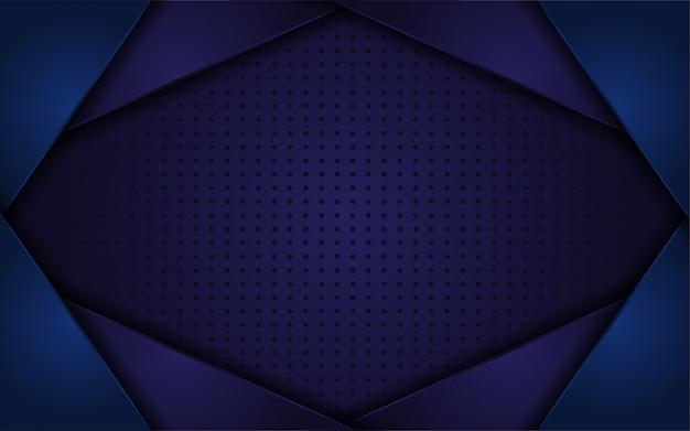 濃い青の抽象的な現実的な背景