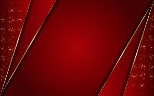豪華なモダンな抽象的な赤と金色のラインの背景。エレガントでモダンな背景。