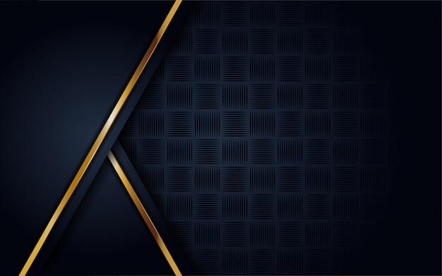 輝き、ゴールドラインとモダンな暗い青色の背景