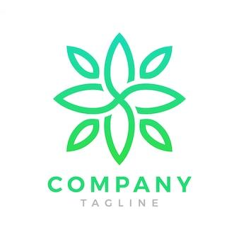 Современный зеленый цветочный логотип
