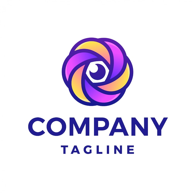 Фотография цветочного объектива с логотипом камеры