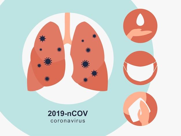 Инфографические элементы профилактики коронавируса