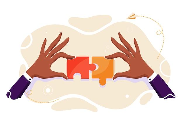 ビジネスマッチング-パズル要素の接続