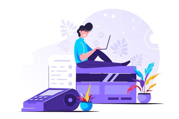 現代人とのクレジットカードのオンライン決済