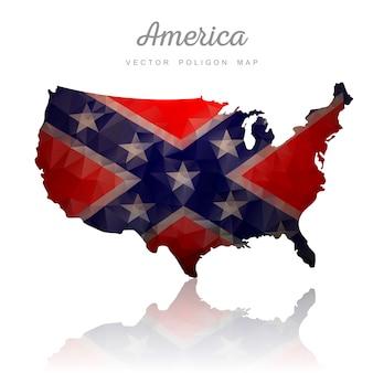 アメリカの地図。