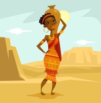 Родная африканская женщина
