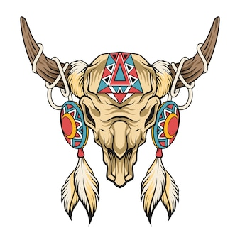 Череп буйвола искусство