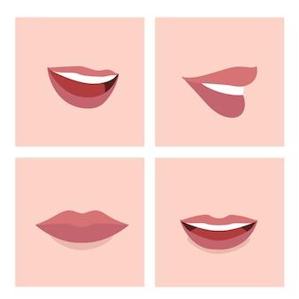 色とりどりの口のコレクション
