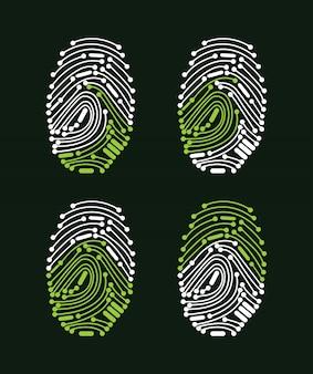 デジタル指紋アクセス許可