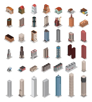 等尺性都市の建物
