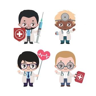 多様な男性医師のグループ
