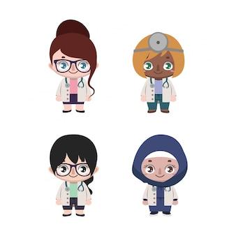 多様な女性医師のグループ