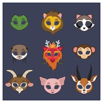 Коллекция масок животных