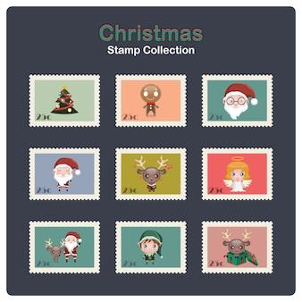クリスマスのスタンプのコレクション