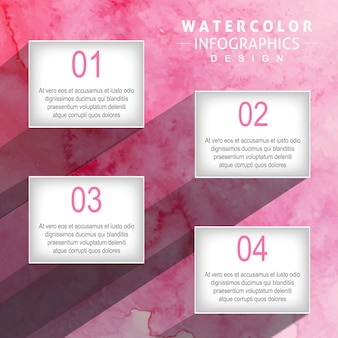 創造的な水彩インフォグラフィックデザイン