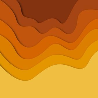カラフルなベクトルのペーパーカットの背景