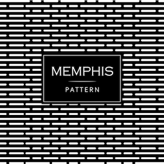 黒と白の近代的なメンフィスパターンの背景