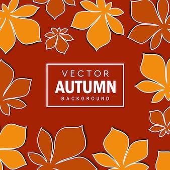 エレガントなベクトルの秋の背景