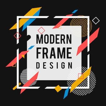 創造的なベクトルの現代メンフィスフレーム