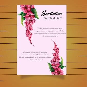 Акварель цветок приглашение карта