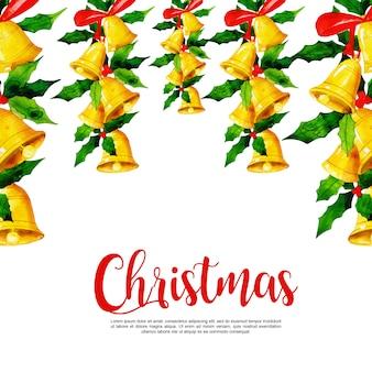 Акварельный рождественский фон