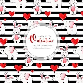 バレンタインブラックストライプパターン背景