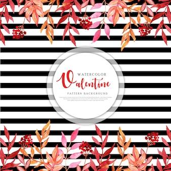 Красочная акварель валентина фон